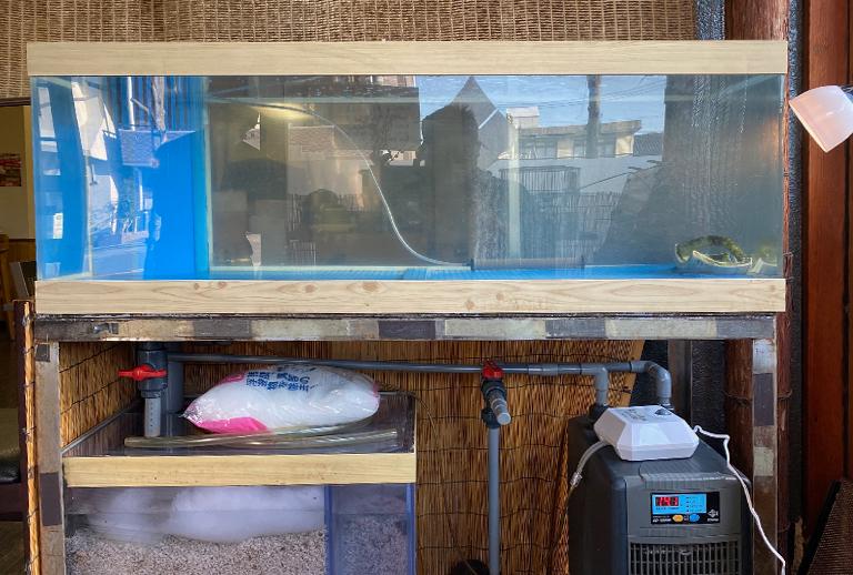 お客様の水槽の機材を調整しました
